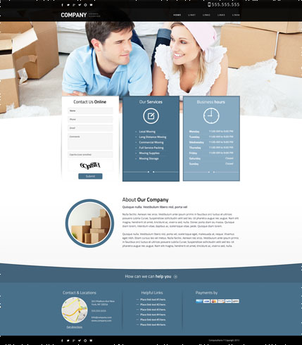 Packing services blue